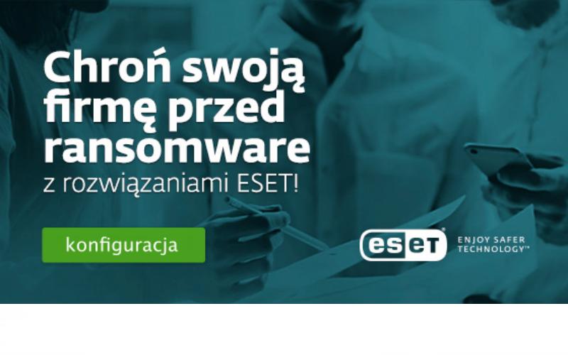 ESET zabezpiecza przed ransomware