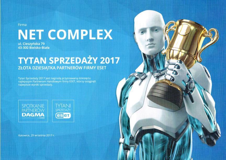 Net Complex Tytan Sprzedazy ESET 2017 - NET COMPLEX PONOWNIE UHONOROWANY TYTANEM SPRZEDAŻY ESET - netcomplex