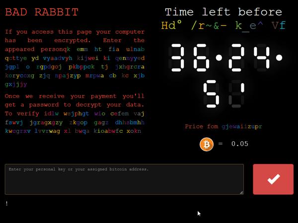 badrabbit ekran szyfrowania - Bad Rabbit - nowy ransomware sieje spustoszenie - netcomplex