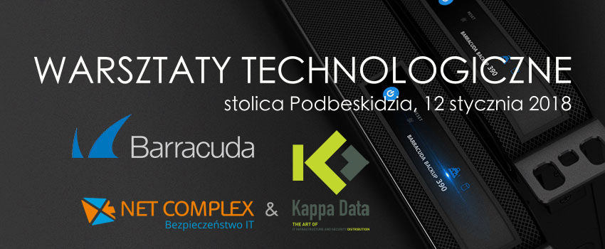 Weź udział w warsztatach technologicznych z Barracuda - Bezpłatne warsztaty technologiczne Barracuda