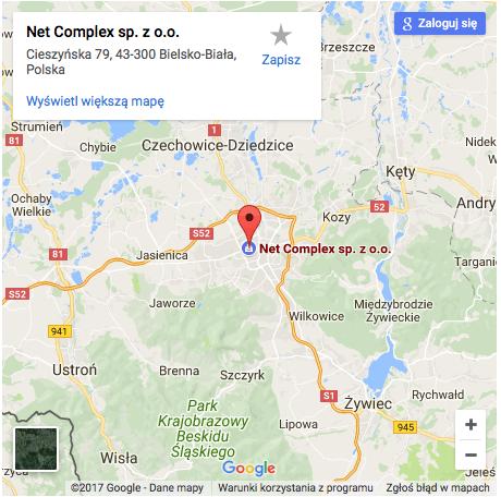 Jak trafić do NetComplex - Bielsko-Biała
