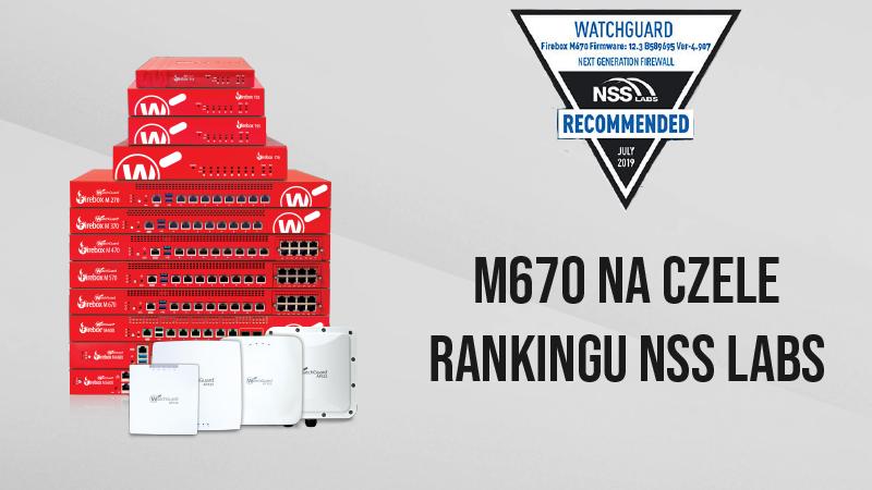 WatchGuard rekomendowany przez NSS Labs. Najlepszy stosunek jakości do ceny.